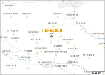 map of Nefedova