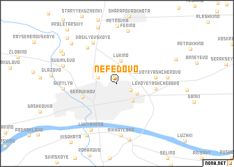 map of Nefëdovo