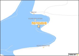 map of Nefëdovo