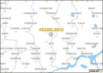 map of Negawla-aze