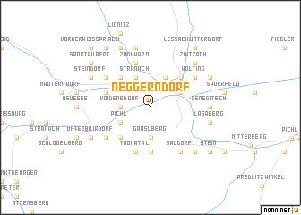map of Neggerndorf