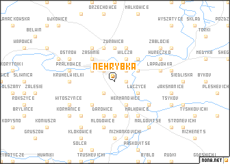 map of Nehrybka