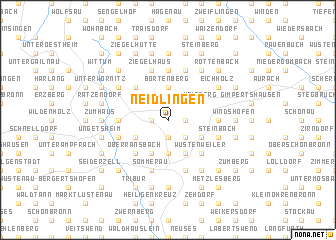 map of Neidlingen