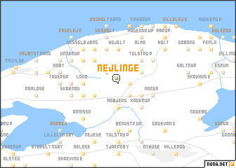 map of Nejlinge
