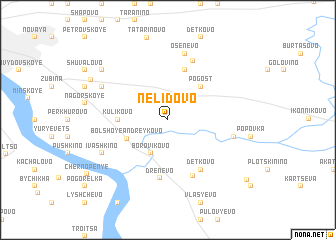 map of Nelidovo