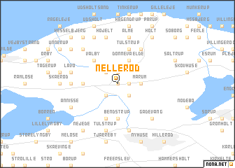 map of Nellerød
