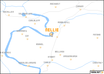 map of Nellie