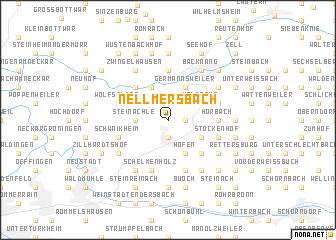 map of Nellmersbach