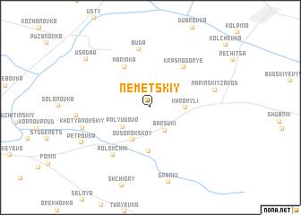 map of Nemetskiy