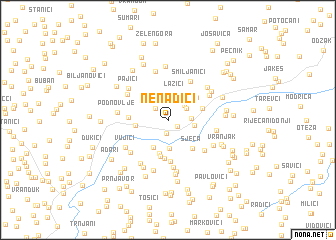 map of Nenadići