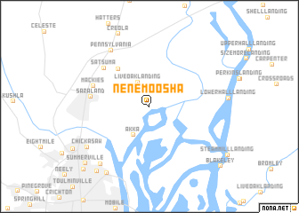 map of Nenemoosha