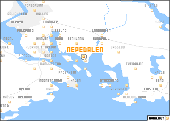 map of Nepedalen