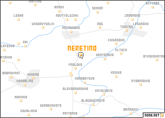 map of Neretino