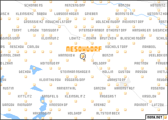 map of Nesow-Dorf