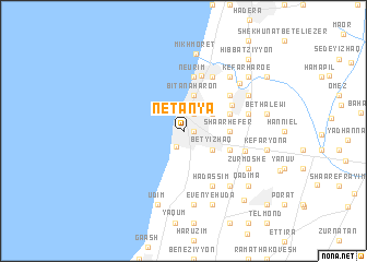 Netanya Israel map nonanet