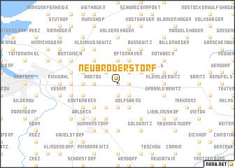 map of Neu Broderstorf