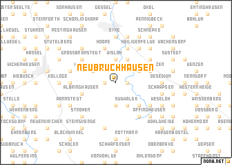 map of Neubruchhausen