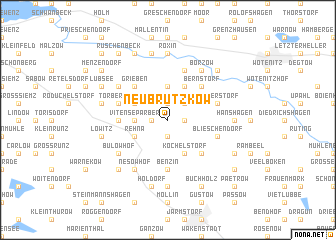map of Neu Brützkow