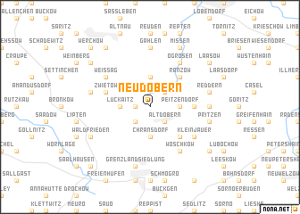map of Neudöbern