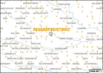 map of Neudorf bei Stainz