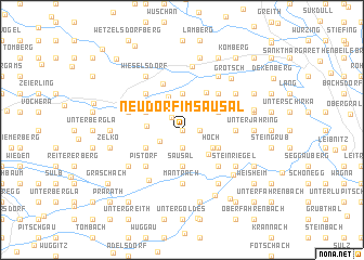 map of Neudorf im Sausal