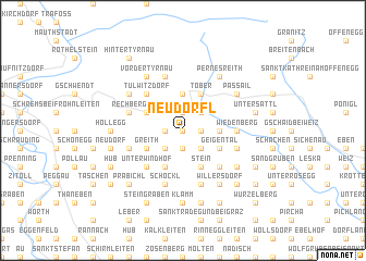 map of Neudörfl