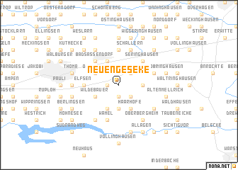 map of Neuengeseke
