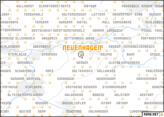 map of Neuenhagen