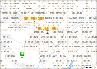 map of Neuenhaus