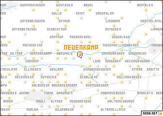 map of Neuenkamp