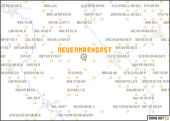 map of Neuenmarhorst