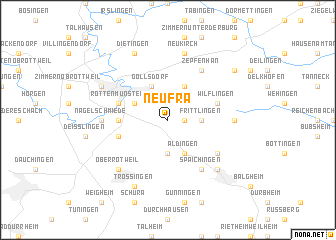 map of Neufra