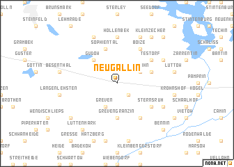 map of Neugallin