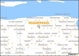 map of Neugarmssiel