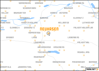 map of Neuhäsen