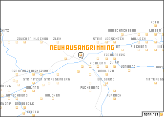map of Neuhaus am Grimming