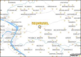 map of Neuhäusel