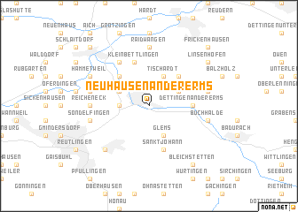 map of Neuhausen an der Erms