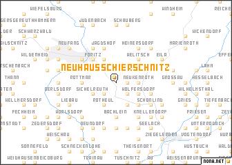 map of Neuhaus-Schierschnitz