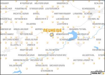 map of Neuheide