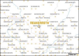 map of Neukenroth