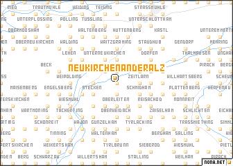 map of Neukirchen an der Alz
