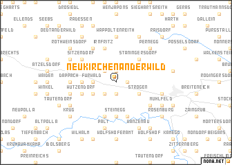 map of Neukirchen an der Wild