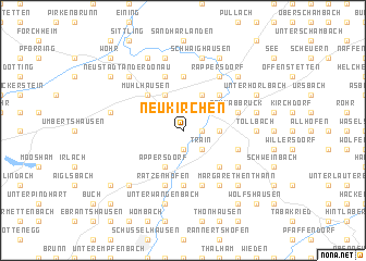 map of Neukirchen