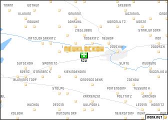 map of Neu Klockow