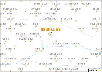 map of Neuklüß