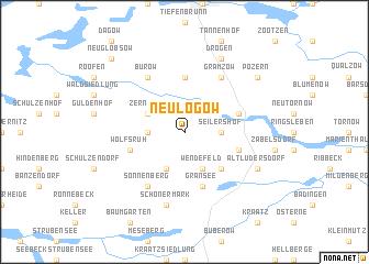 map of Neulögow