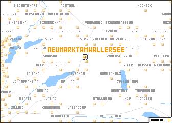 map of Neumarkt am Wallersee