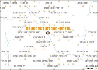 map of Neumarkt im Tauchental