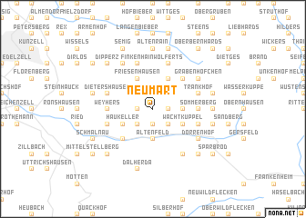 map of Neumart